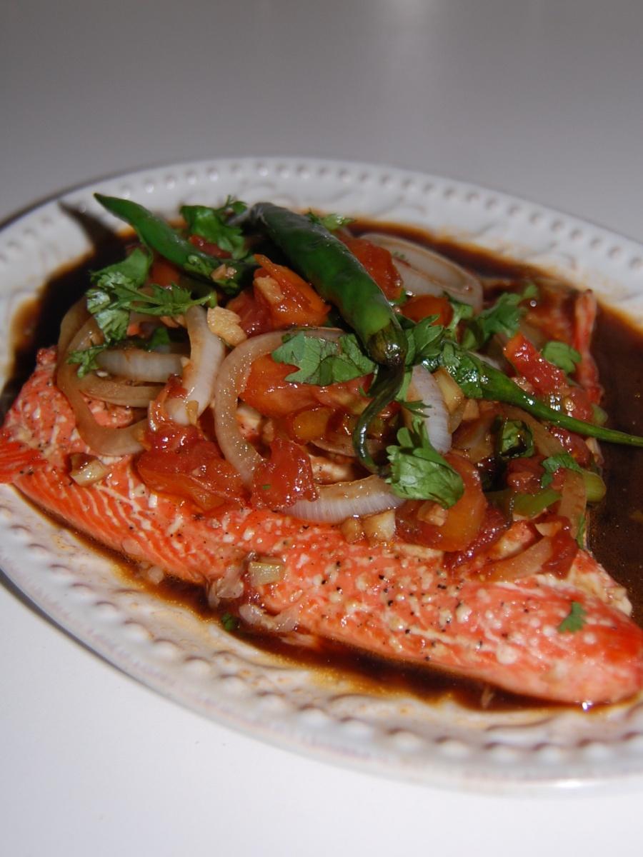 Baked Salmon Escabeche