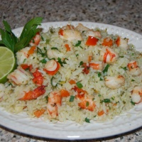 Shrimp Pesto Fried Rice