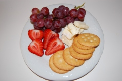 Fruits, Crackers, and Cheese