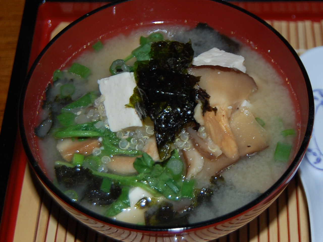 Miso Soup with Quinoa, Tofu, Shiitake Mushrooms and Watercress   Anna ...
