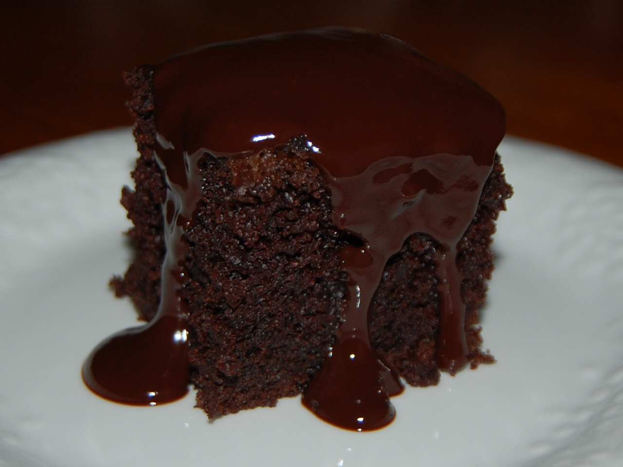 Double Chocolate Fudge Cake & Double Chocolate Cake with ...