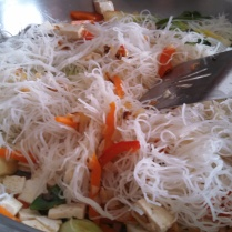 Add the rice noodles
