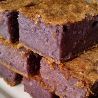 Purple Yam (Ube) Sweet Rice Cake