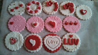 Edible Cupcake toppers made with fondant